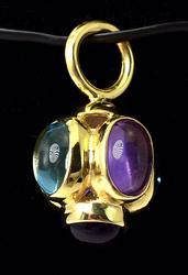 Mutli-Gemstone Pendant in 14kT Yellow Gold