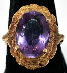 Incredible Amethyst Ring in 14KT Yellow Gold