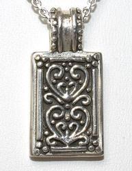 Heart Pendant & Chain in Sterling Silver
