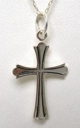 Sterling Silver Cross Pendant & Chain