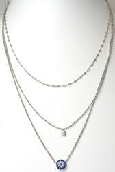 Multi-Chain & 2 Pendants in Sterling Silver