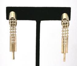 Post Style Vintage Dangle Earrings in Sterling Silver