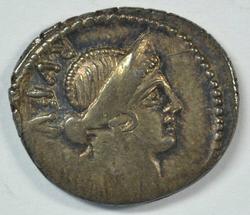 Scarce Roman Republic Denarius of MN Cordius, 46 BC