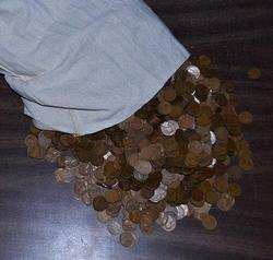 Great Bag of 5000 Lincoln Wheat-Back Cents from 1930s
