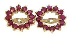 Amazing Yellow Gold Ruby Earrings Jackets