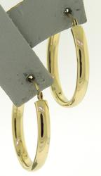 Beautiful Yellow Gold Oval Hoop Earrings