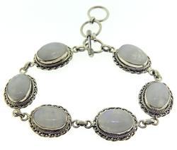 925 Sterling Silver Moonstone Bracelet