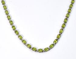 Gorgeous Peridot Necklace in .925 Silver