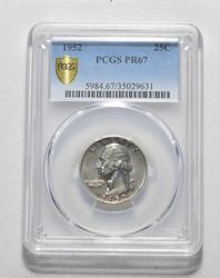 PR67 1952 Washington Quarter - Graded PCGS