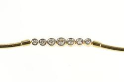 14K Yellow Gold 1.04 Ctw Graduated Diamond Cocoon Chain Necklace