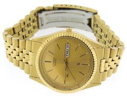 Men's Gold Marker Dial Watch