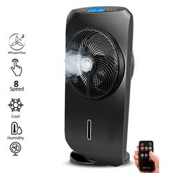 Touch-screen Spray Fan Remote Control Speed Adjustable
