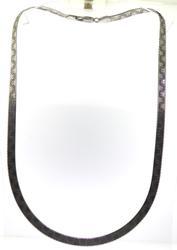 Vintage Sterling Silver Italian Herringbone Chain.