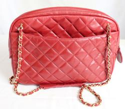 Designer Chanel Red Leather Purse
