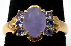 Cabochon Moonstone Ring in 14KT Yellow Gold
