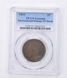 XF Detail 1810 Classic Head Large Cent - Environmental Damage - PCGS