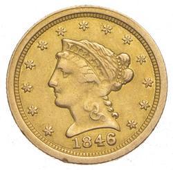 1846-O $2.50 Liberty Head Gold Quarter Eagle