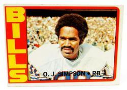 1972 O.J. Simpson, Bills Football Card