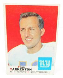 Fran Tarkenton, Giants 1969 Football Card