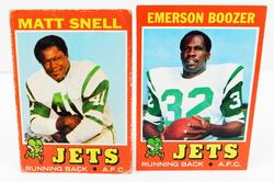 2 New York Jets 1971 Running Backs Football Cards