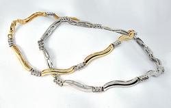 White & Yellow Diamond Snake Bracelets
