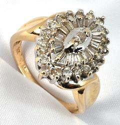 Bold Cluster of Diamonds Ring