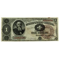 1890 Brown Seal $1 Series 1890  Treasury Note LL Revers