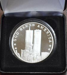 9-11 WTC Fine Silver 1oz Round in box
