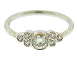 Gorgeous White Gold Diamond Bezel Set Ring