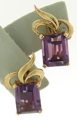 Stunnign 18kt Amethyst Clip on Earrings