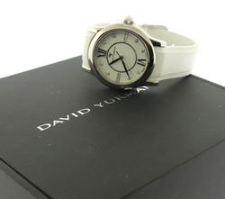 David Yurman Classic White Silicone Band Watch