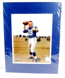Johnny Unitas Matted Color Photo w/Hologram