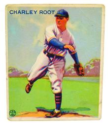 1933 Charley Root, Cubs Goudey Gum Baseball Card
