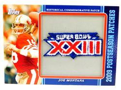 Joe Montana Super Bowl XXIII Patch Football Card