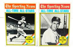 2 - 1976 Sporting News All-Time All Stars Baseball Cards