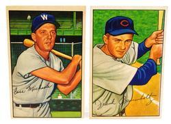 2 Bowman Gum 1952 Baseball Cards