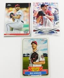 3 Max Scherzer Topps Baseball Cards