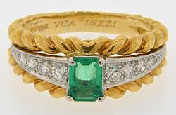 Van Cleef & Arpels Emerald & Diamond Ring