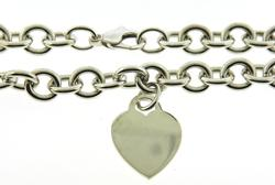 Tiffany & Co Heart Tag Pendant Necklace