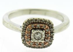Beautiful White Gold Double Halo Cluster Cushion Ring