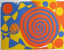 Alexander Calder, Spirale Avec Citrouille