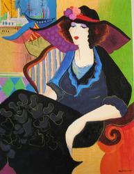 Patricia Govezensky, Marina Hand Signed Serigraph