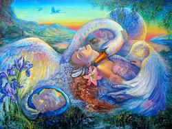 Josephine Wall, Leda And The Swan