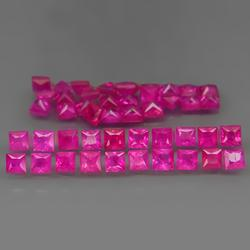 Collection of HOT PINK Myanmar Rubies! 3.40 carats!