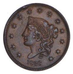 1836 Young Head Large Cent - Choice
