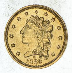 1839-C $2.50 Classic Head Gold Quarter Eagle