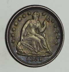 1851-O Seated Liberty Half Dime - Sharp