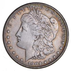 1904-S Morgan Silver Dollar - Cleaned - Circulated