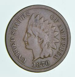 1870 Indian Head Cent - Shallow N