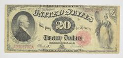 1880 $20 Legal Tender Note - Horse Blanket